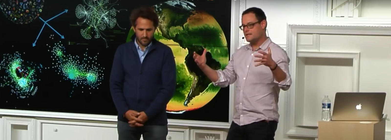 R. Troublé and C. de Vargas giving a talk at Google about Tara Oceans